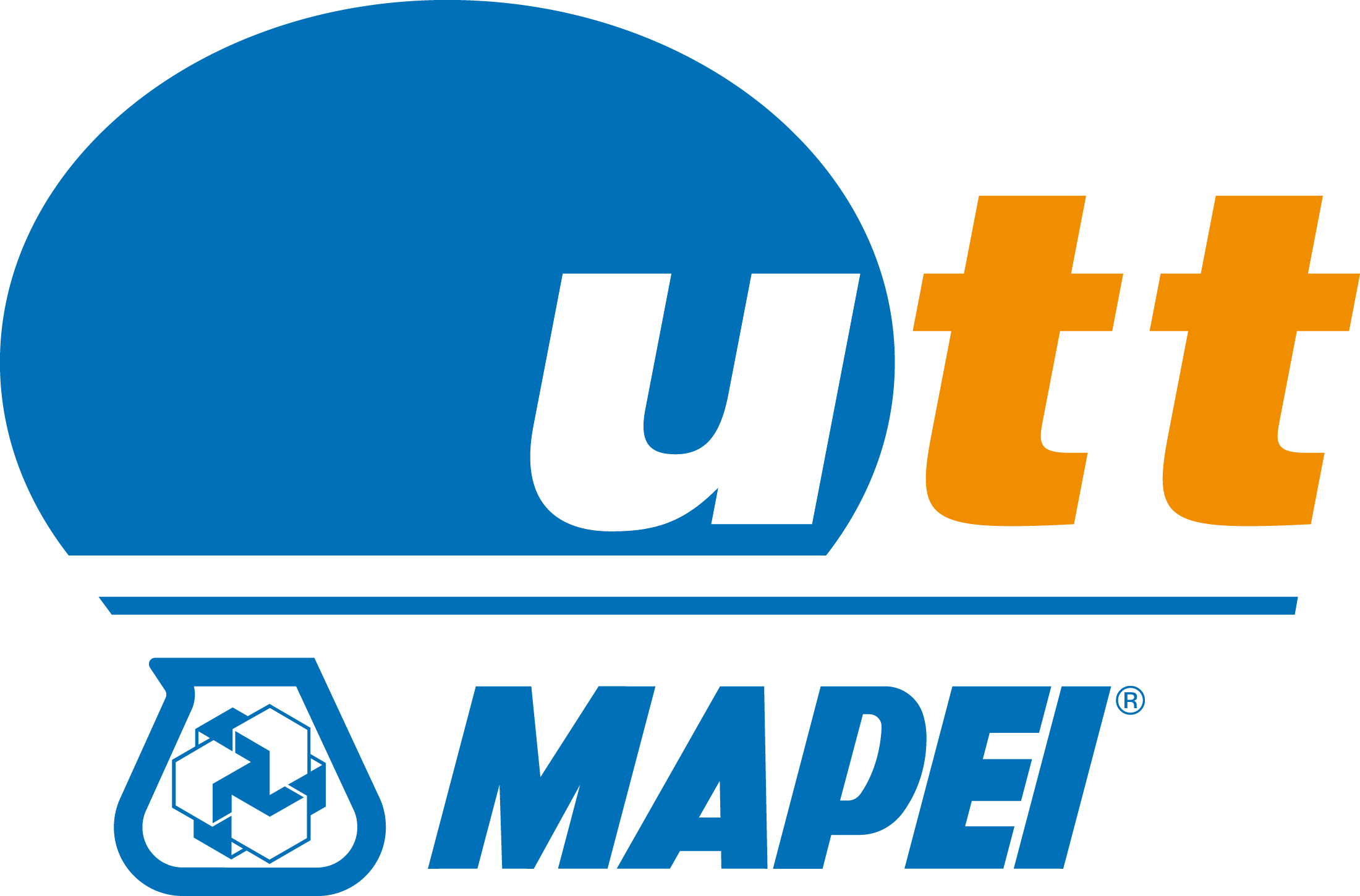 utt mapei logo blue orange positive